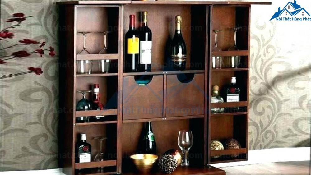 mẫu tủ rượu treo tường mini