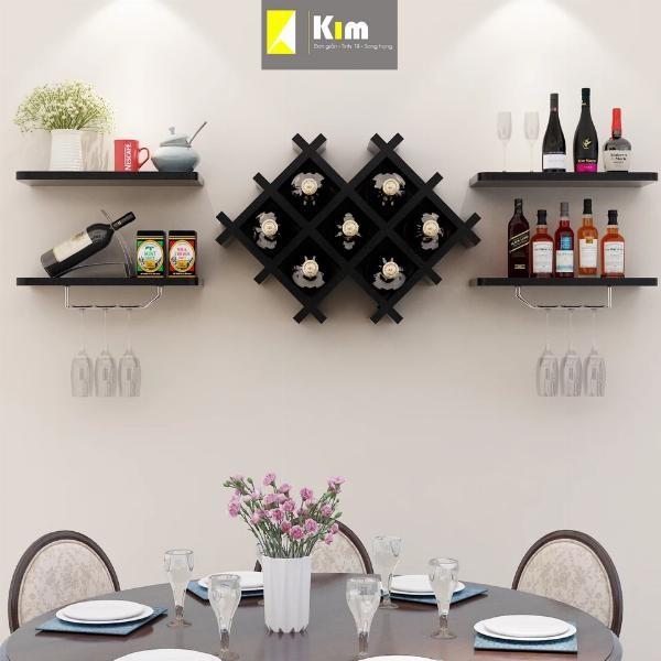 tủ rượu treo tường hiện đại